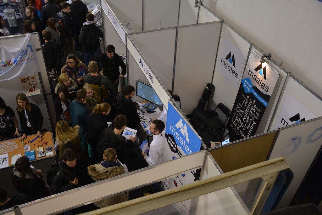 msales exhibiting at job fair in Gliwice