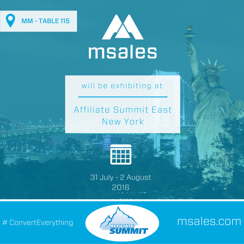 affiliate summit east, msales,