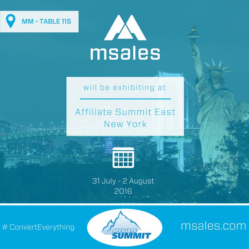 affiliate summit east, msales,