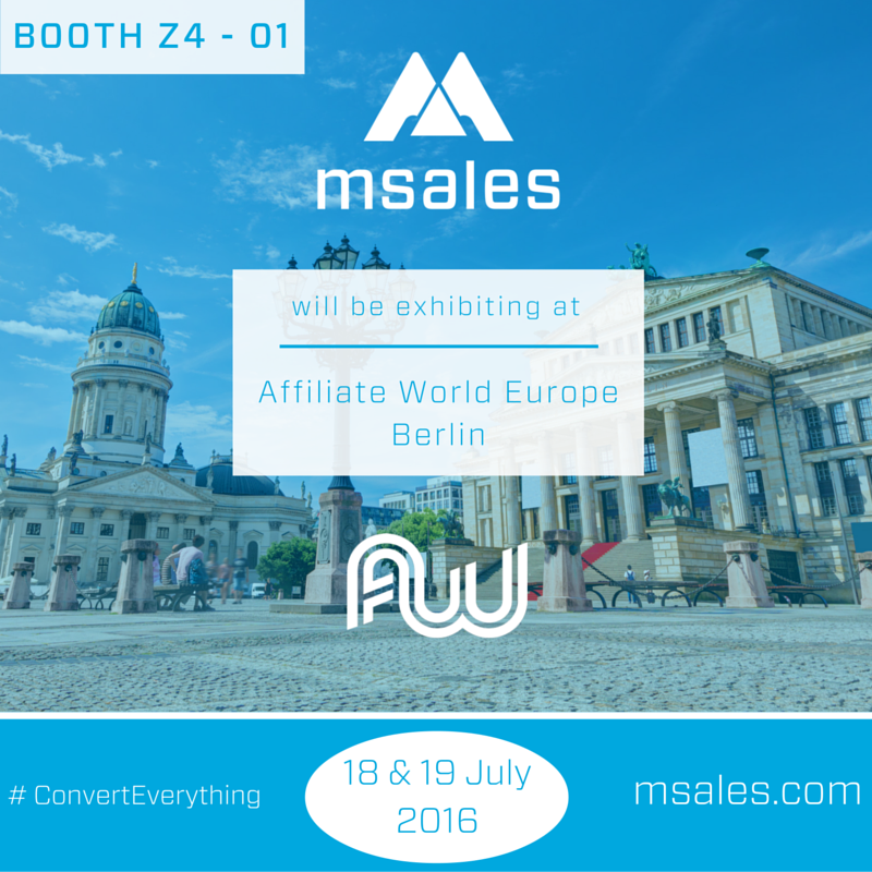 affiliate world europe, msales, berlin affiliate conference, programmatic traffic monetization, affiliate marketing